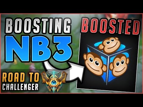 Download Youtube: CAN I BOOST THIS BONOBO NIGHTBLUE3 TO CHALLENGER WITH ME? ROAD TO CHALLENGER! - League of Legends