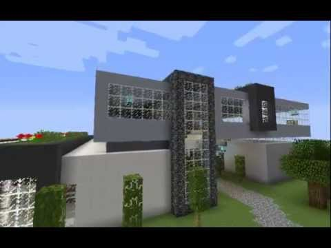 Visite de ma maison moderne minecraft youtube for Minecraft maison moderne plan