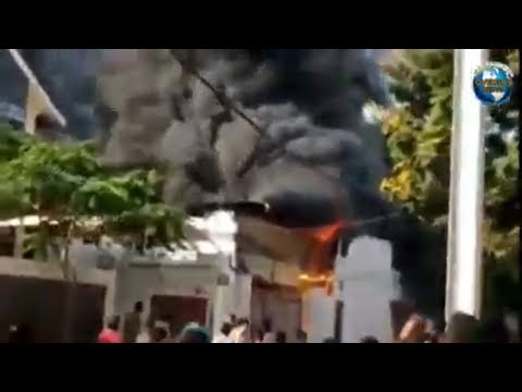 Massive Blaze Mishap in Factory at Falaknuma Hyderabad Telan