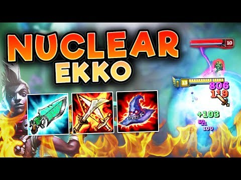 THIS NUCLEAR EKKO BUILD LEGITIMATELY ONE SHOTS! FULL AP EKKO TOP SEASON 7 - League of Legends