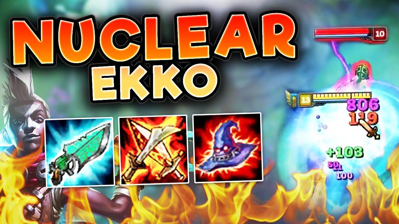 This Nuclear Ekko Build Legitimately One Shots Full Ap Ekko Top Season 7 League Of Legends Youtube