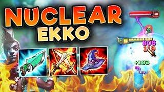 THIS NUCLEAR EKKO BUILD LEGITIMATELY ONE SHOTS! FULL AP EKKO TOP SEASON 7 - League of Legends