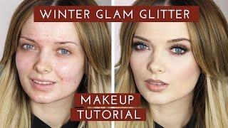 Winter GLAM Glitter Makeup Tutorial // New Years Eve Makeup // MyPaleSkin
