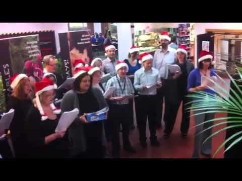 UK Marketing singing carols!