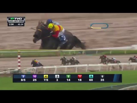 RACE REPLAY: 2016 Santa Anita Derby Featuring Exaggerator