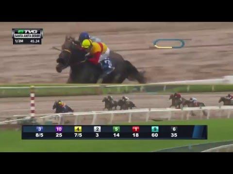 RACE REPLAY: 2016 Santa Anita Derby Featuring Exaggerator