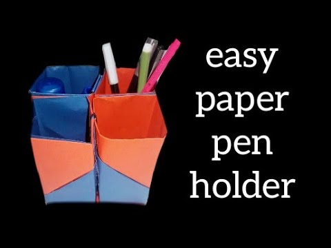 Beautiful And Amazing Paper Pen Holder // DIY Simple Paper Craft