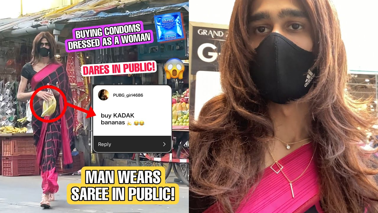 Download GOING OUT and BUYING CONDOMS DRESSED AS A WOMAN IN INDIA (Social Experiment) || Jake Sitlani