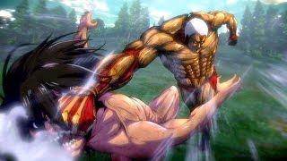 Eren (Titan form) vs The Armored Titan & ARMY of Titans Boss Battle | ATTACK ON TITAN