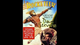 Rocketeer Group Art Show Tribute to Dave Stevens 2017