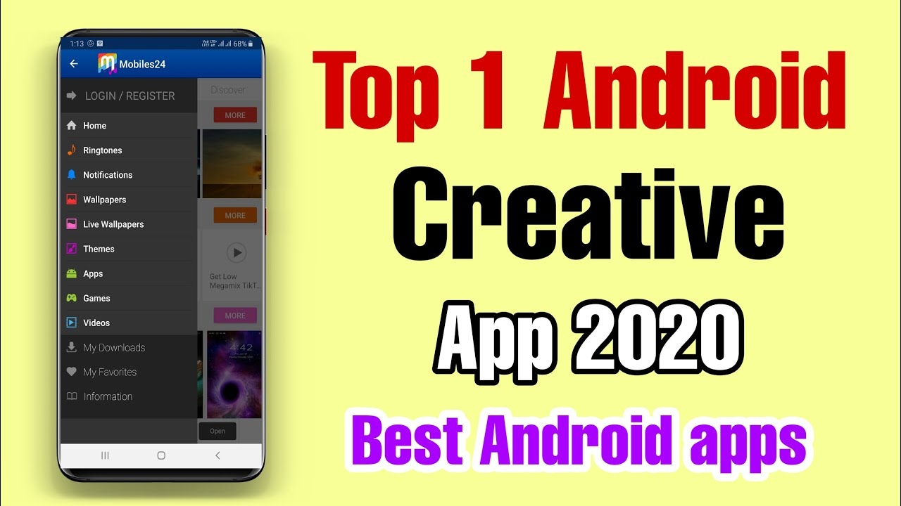 Top 1 New Creative Powerful App For Android Mobile Users - Mobile 24 Amazing Apps For Mobile.