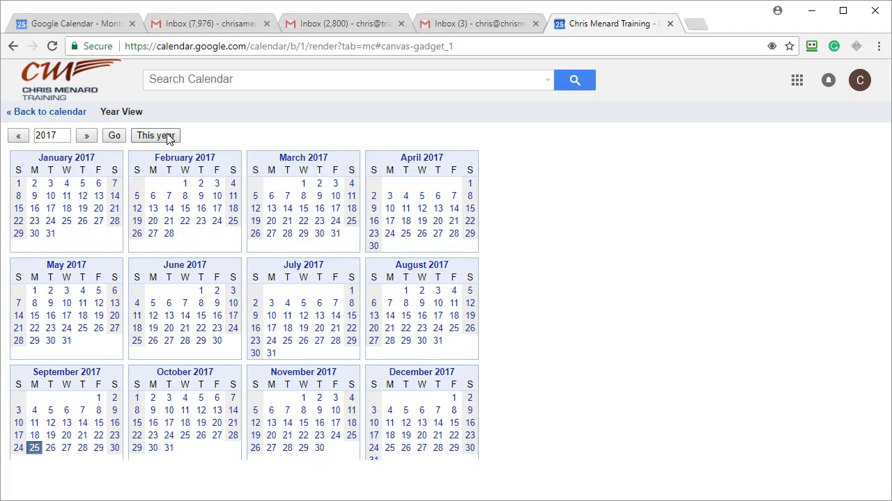 Google Calendar Year View : Google calendar features to turn on hide times year