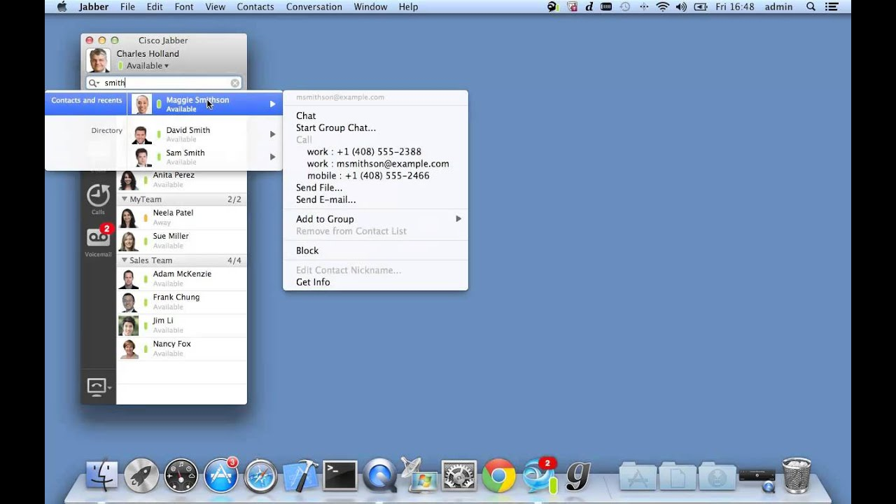 Jabber Mac Add Contacts