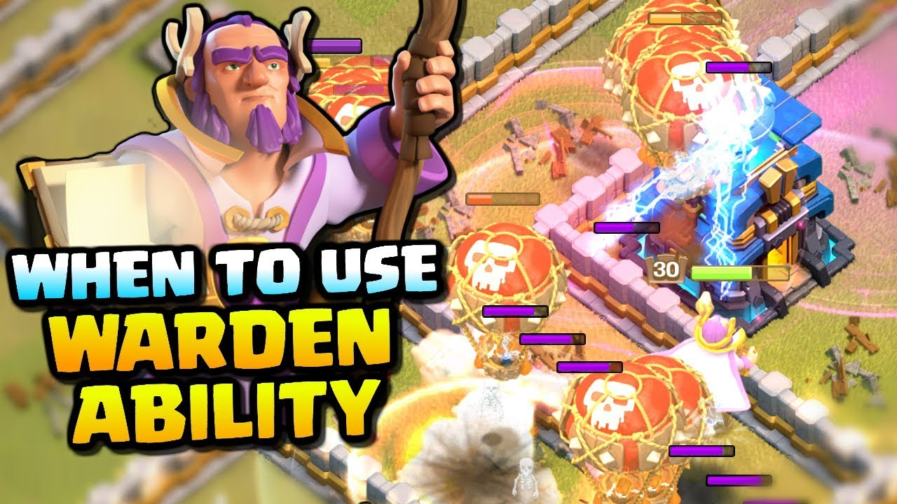 WHEN TO USE THE GRAND WARDENS ABILITY | How to use the Grand Warden | Clash of Clans