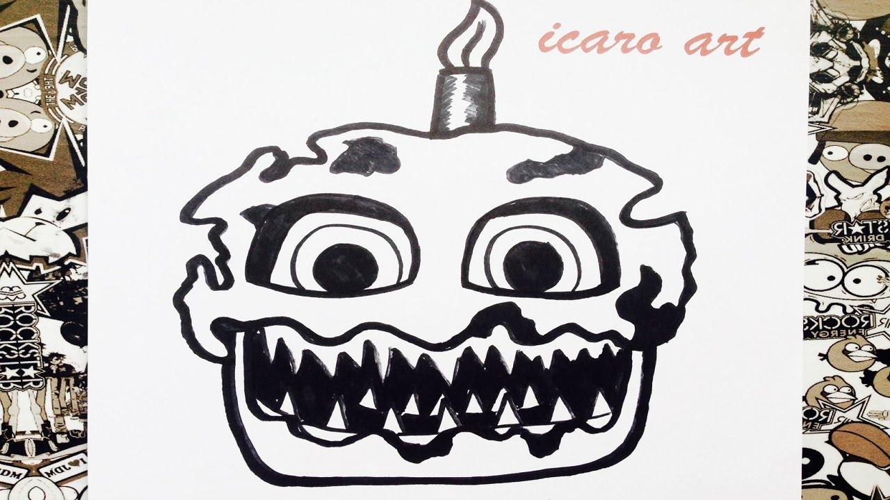 Como dibujar a nightmare cupcake   how to draw cupcake ...