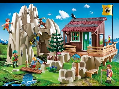 playmobil 2018 action maison playmobil des montagnes avec escalade et secours youtube. Black Bedroom Furniture Sets. Home Design Ideas