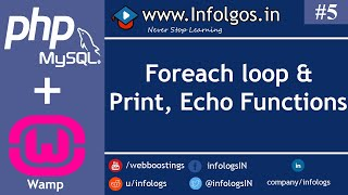 PHP - Foreach Loop, Print and Echo function - Tutorial 5