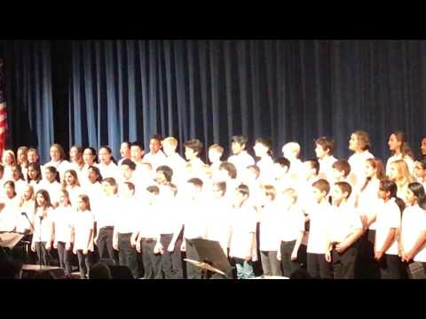 Wonder of the snow chorus by 6th grade valley forge middle school