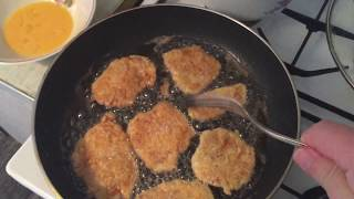 Куриные отбивные очень вкусные, биточки из куриного филе