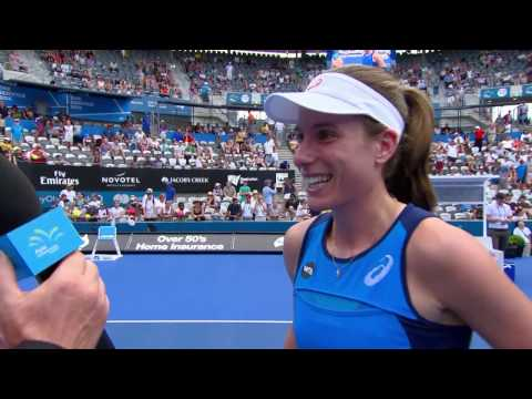 Johanna Konta On Court Interview (R2) | Apia International Sydney 2017