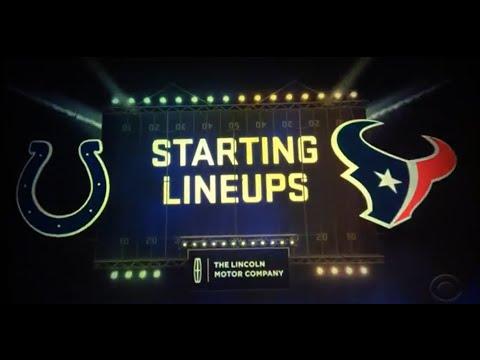 Thursday Night Football Player Lineups Week 5