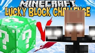 LUCKY BLOCK EMERALD VS VILLAGER WITHER !   LUCKY BLOCK CHALLENGE  [FR]
