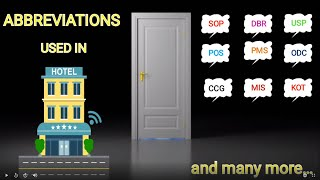 Abbreviations used in Hotel Industry|| Key Terms|| Hotel Jagrons