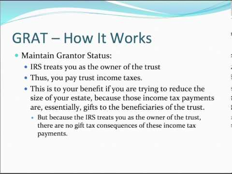 grantor retained annuity trust analysis The grantor retained annuity trust intuitive analysis before beginning a technical analysis of ments are the only interest the grantor retains, and that retained annuity inter-est has a value for gift tax purposes determined under code §§ 2702 and.