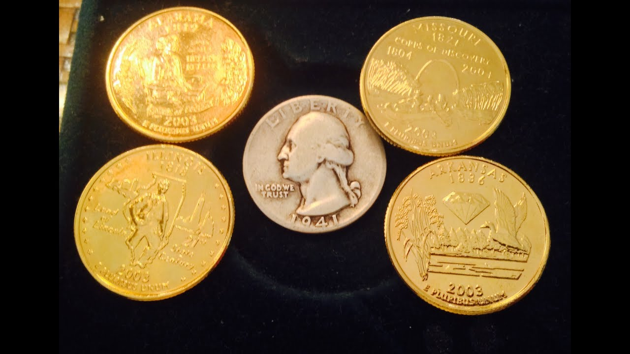 Gold plated State Quarters. Are They Worth Anything? & Gold plated State Quarters. Are They Worth Anything? - YouTube