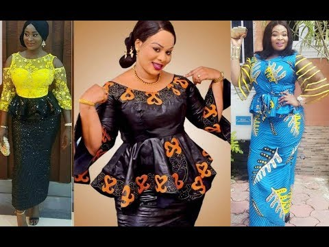 2019 different styles of native skirt and blouse to wow