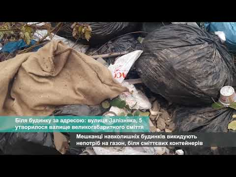 Телеканал АНТЕНА: Біля будинку за адресою: вулиця Залізняка, 5 утворилося звалище великогабаритного сміття