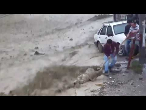 PLANET X NEWS - HAPPENING AROUND THE WORLD - Strong flood in Chubut, Argentina