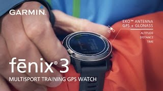 fēnix 3: Uncompromising Multisport Training GPS Watch