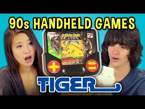 TEENS REACT TO 90s HANDHELD GAMES (Tiger)