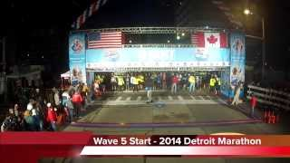 Waves 5 and 6 Starts at the 2014 Detroit Marathon