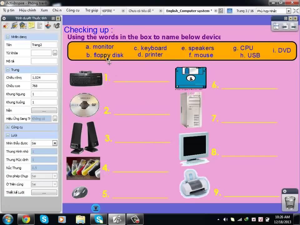 Hướng dẫn sử dụng phần mềm ActivInspire - Phần 7