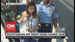 Penyambutan Kedatangan Api Obor Asian Games 2018