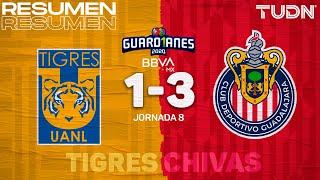 Resumen y goles | Tigres 1-3 Chivas | Guard1anes 2020 Liga BBVA MX - J8 | TUDN