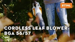 The cordless leaf blower BGA 56/57 of the STIHL COMPACT garden tools (2019 TV commercial)