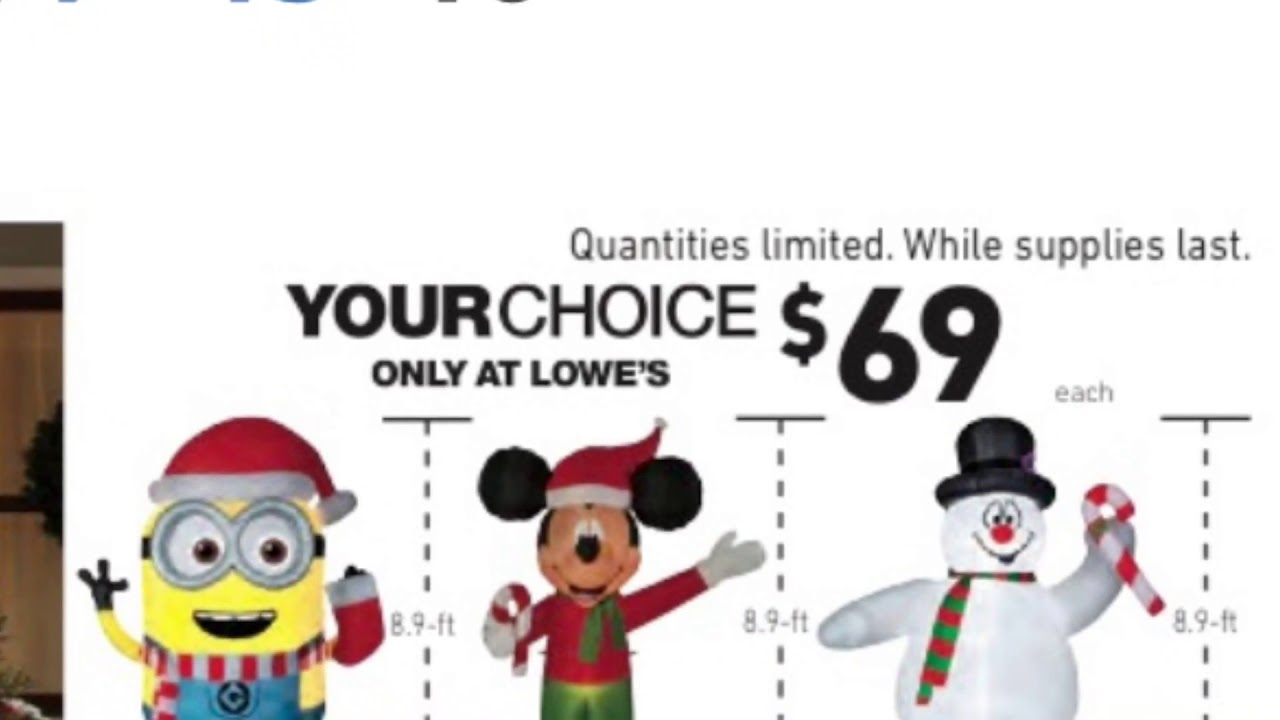 Lowe\'s Black Friday Christmas inflatables - YouTube
