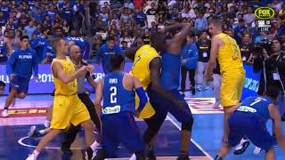 Philippines vs Australia Basketball Slo Mo Fight - Fiba World Cup 2019 Asian Qualifiers