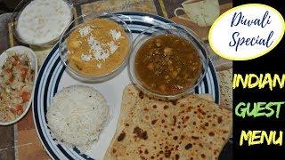 Diwali Special- Indian Lunch/ Dinner/Potluck Recipes| Paneer Lababdar /Punjabi Chole /Ajwain Paratha