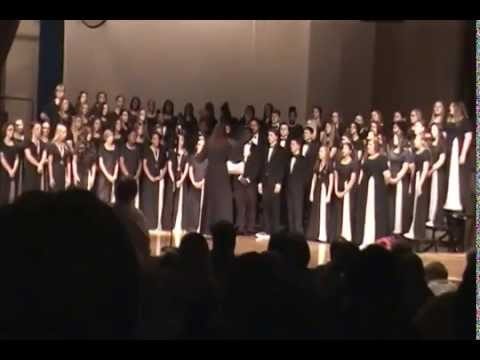 "North Dorchester High School Chorus performing""Hallelujah"" : 2014 winter concert"