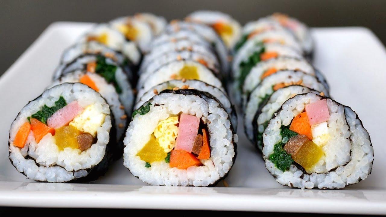 Món Ăn Ngon - Cơm Cuộn Rong Biển Hàn Quốc, Cách Làm KimBap đơn giản