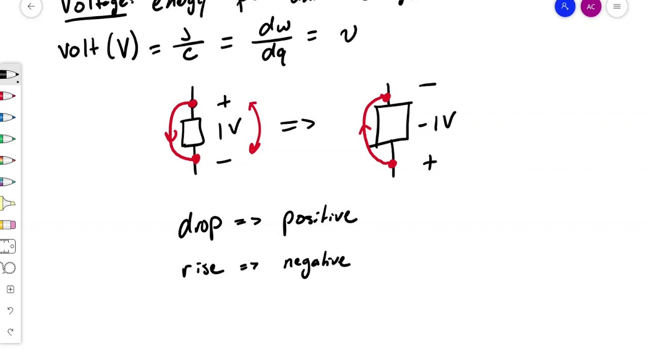 Circuit Analysis Lecture 1: Definition of Voltage, Current