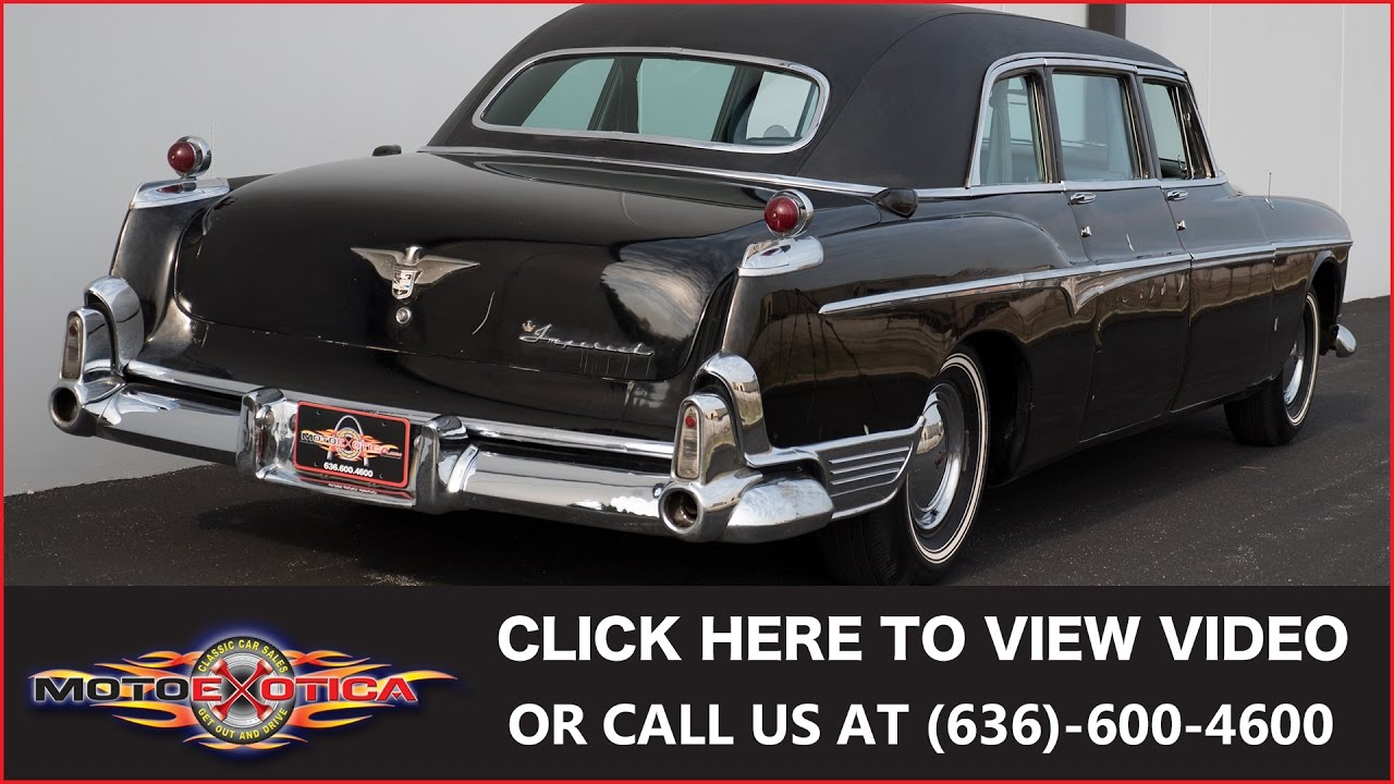 Chrysler Imperial 1956 >> 1955 Chrysler Imperial Limousine || SOLD - YouTube