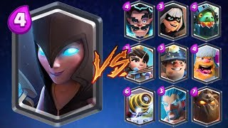 Night Witch vs All Cards in Clash Royale | Night Witch 1 on 1 Gameplay