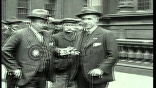 Trade Union leaders meet for a conference at Caxton Hall, London, England. HD Stock Footage