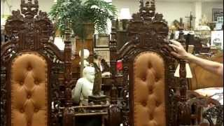 Throne Chairs from our antiques mall at Gannon