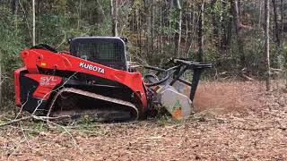 Video still for FAE Forestry Mulcher At Work In North Georgia